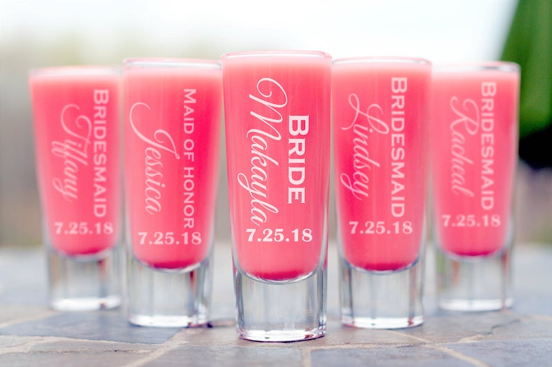 personalized shot glasses for bridesmaids