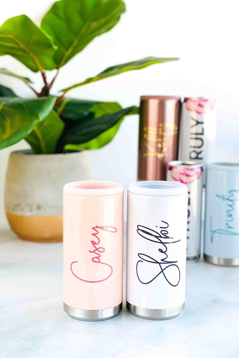 Personalized Slim Can Cooler Bachelorette Party Gift