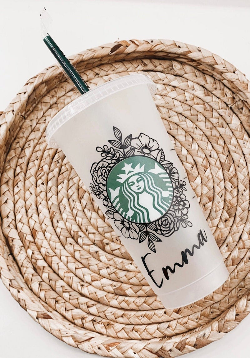 Personalized Starbucks Cup Bridesmaid Gift
