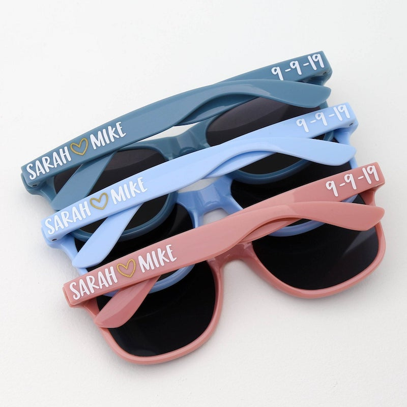 Personalized Sunglasses Wedding Favor
