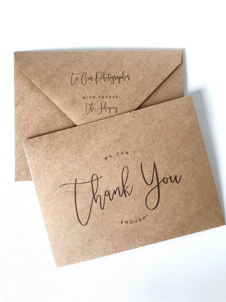 personalized vendor gratuity envelopes