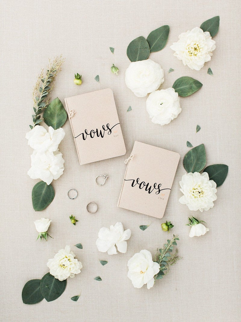 Personalized Vows Booklets for Wedding Day
