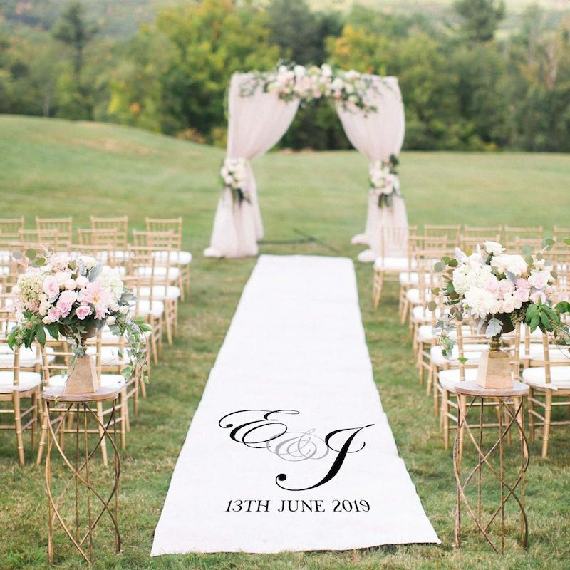 Personalized Wedding Aisle Runner for Outdoor Wedding