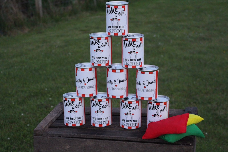 Personalized Tin Can Wedding Game