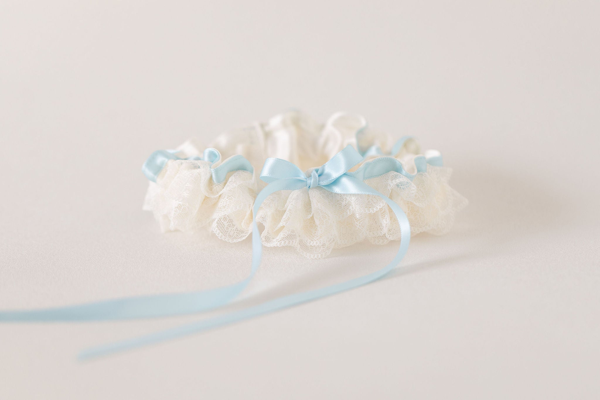 custom wedding garter with personalized embroidery by The Garter Girl