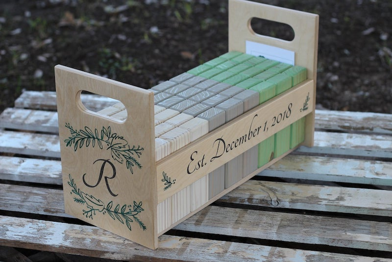 Personalized Wedding Giant Tumble Tower Game