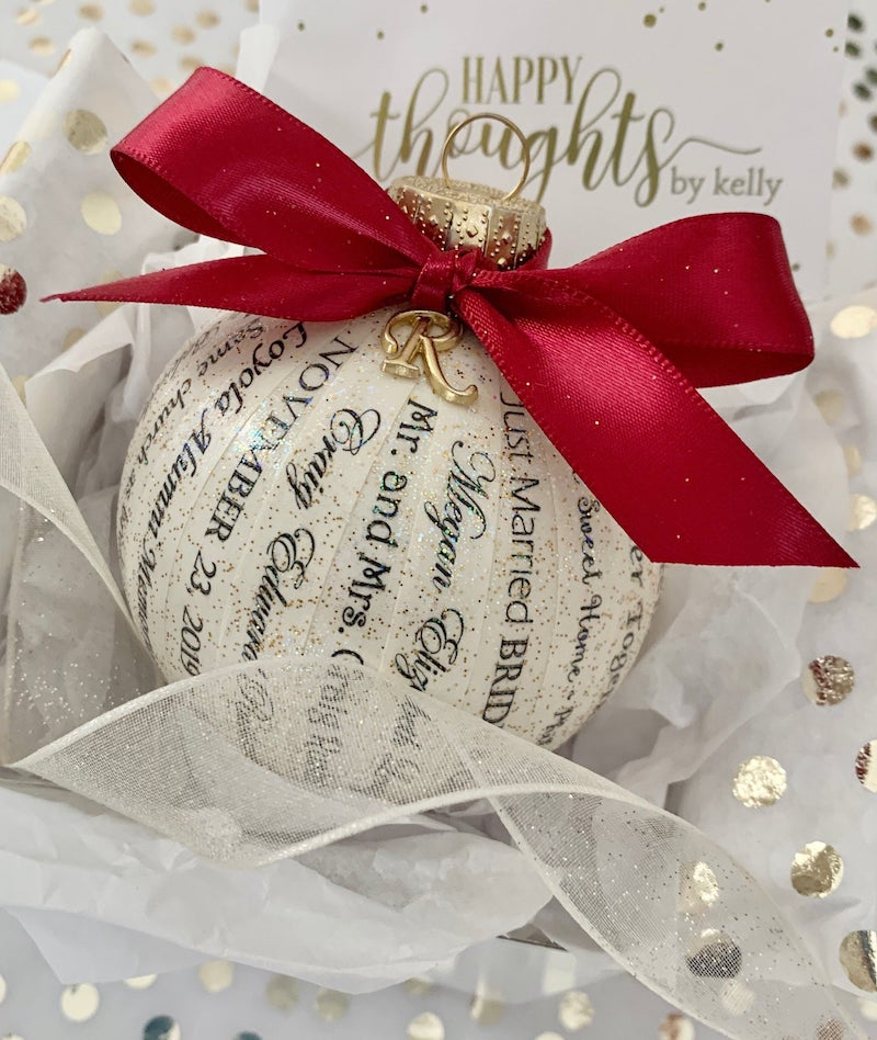 Personalized Wedding Ornament made from Invitation