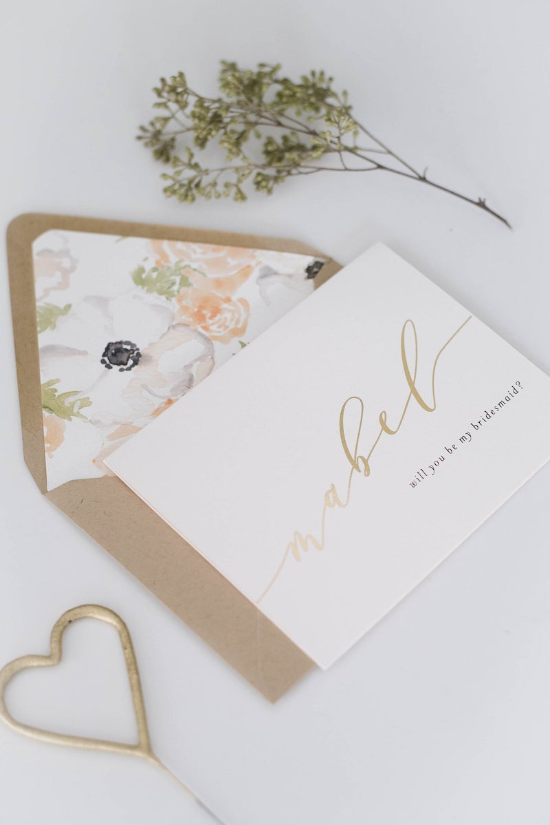 Personalized Will You Be My Bridesmaid Card