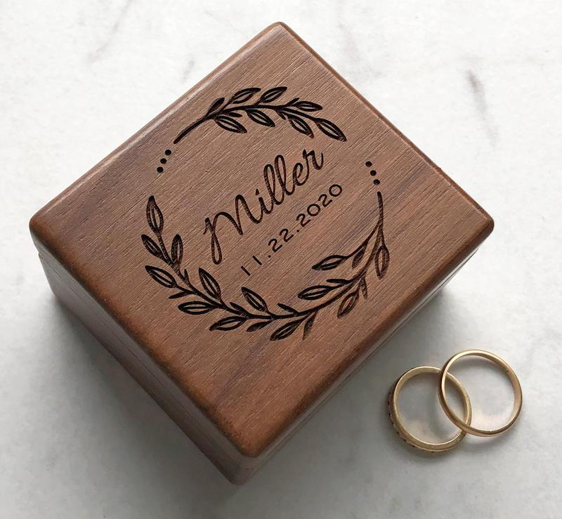 Personalized Wood Ring Box for Ring Bearer