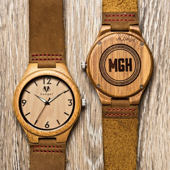 personalized wooden watch wedding engagement gift for groom