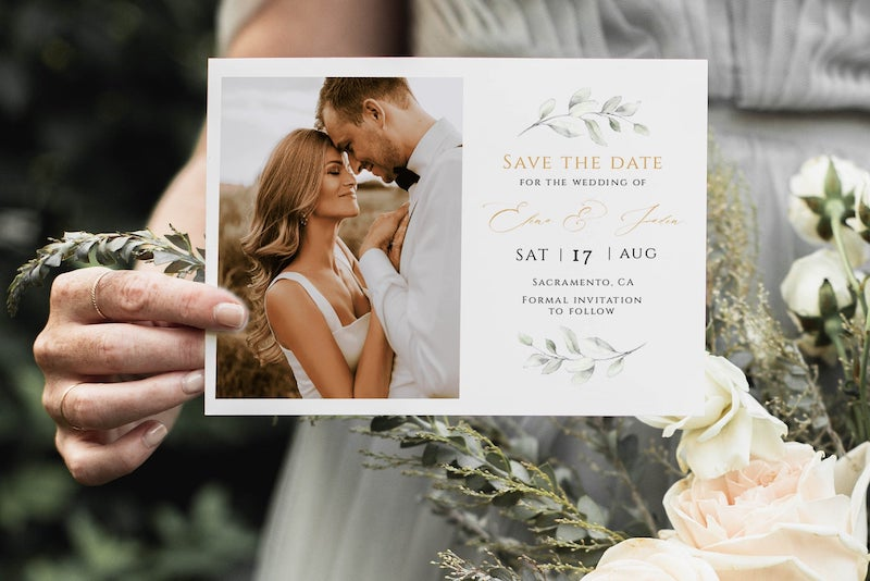 Photo Save the Date Card Template