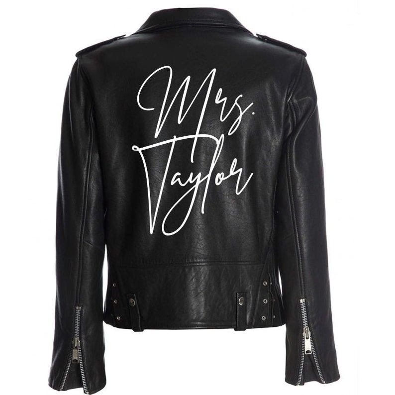 iron on decal bridal leather jacket
