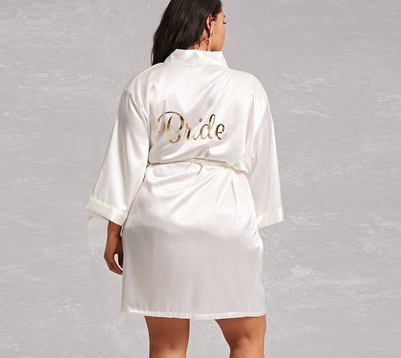 Plus Size Silk Bride Robe