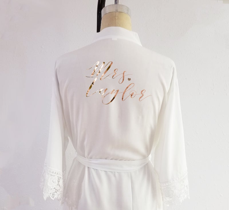 Plus Size Personalized Mrs Robe
