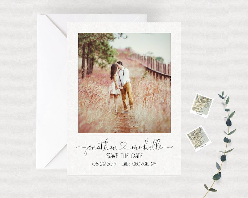 Polaroid Style Save the Date Magnet or Card