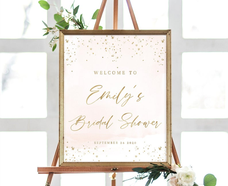 printable bridal shower welcome sign