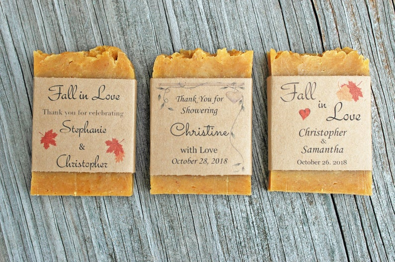 Pumpkin Spice Wedding Favor Soap