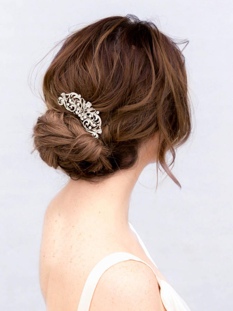 rhinestone bridal comb idea by The Garter Girl