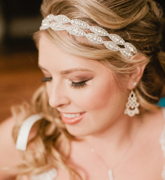 Rhinestone Bridal Ribbon Headband