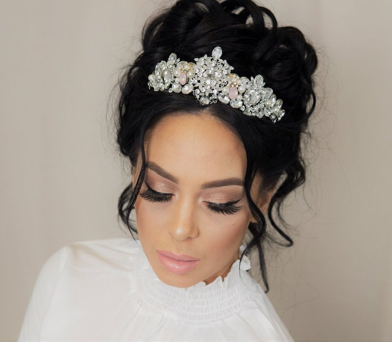 rhinestone bridal tiara idea by The Garter Girl