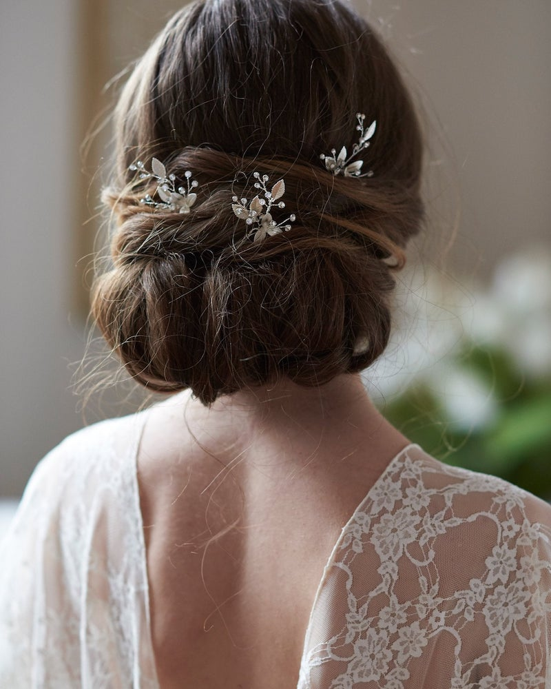Rhinestone Flower Wedding Hair Pins