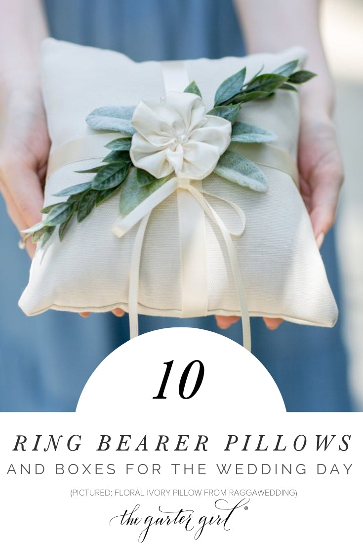 wedding day ring bearer pillows and boxes