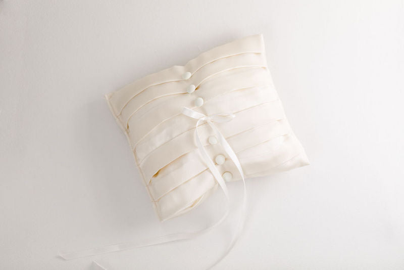 wedding heirloom ring pillow handmade from bride's mother's wedding dress and veil