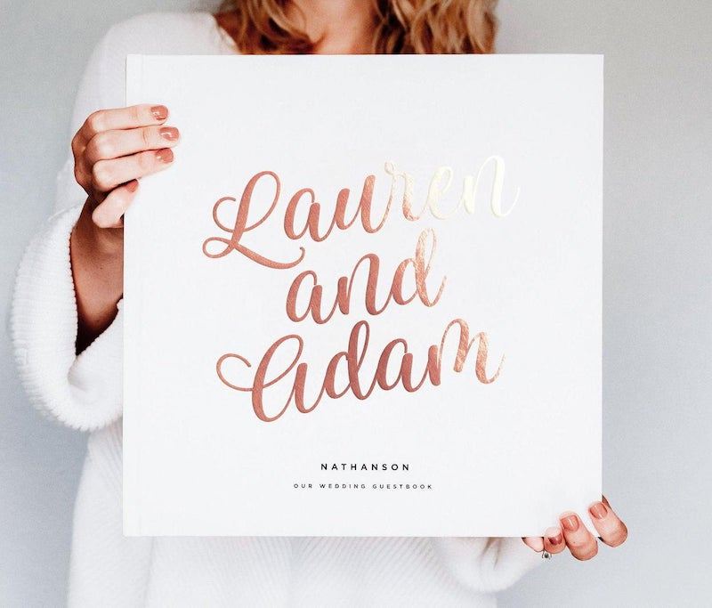 Rose Gold Wedding Guest Book