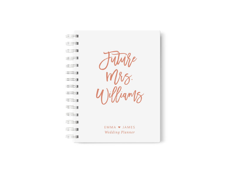 Rose Gold Wedding Planner Future Mrs Notebook