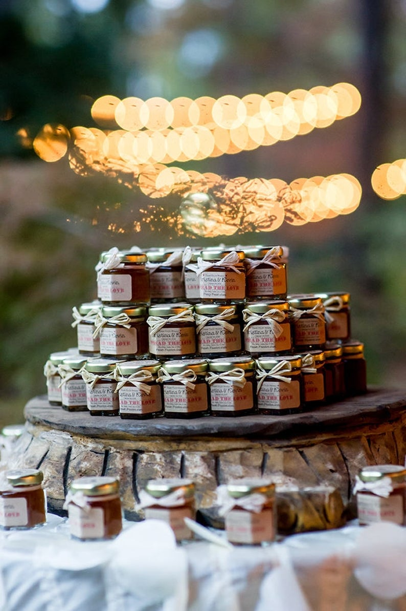 Rustic Fall Wedding Favors Jam