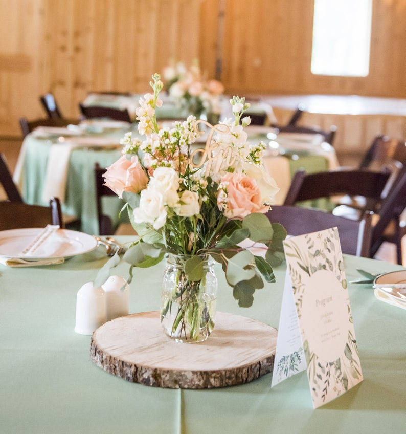 Rustic Fall Centerpiece Wooden Slice