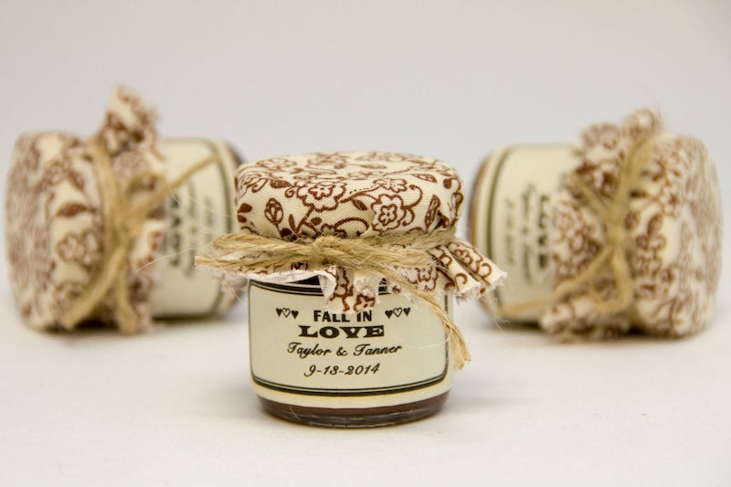 Mini Apple Butter Wedding Favor