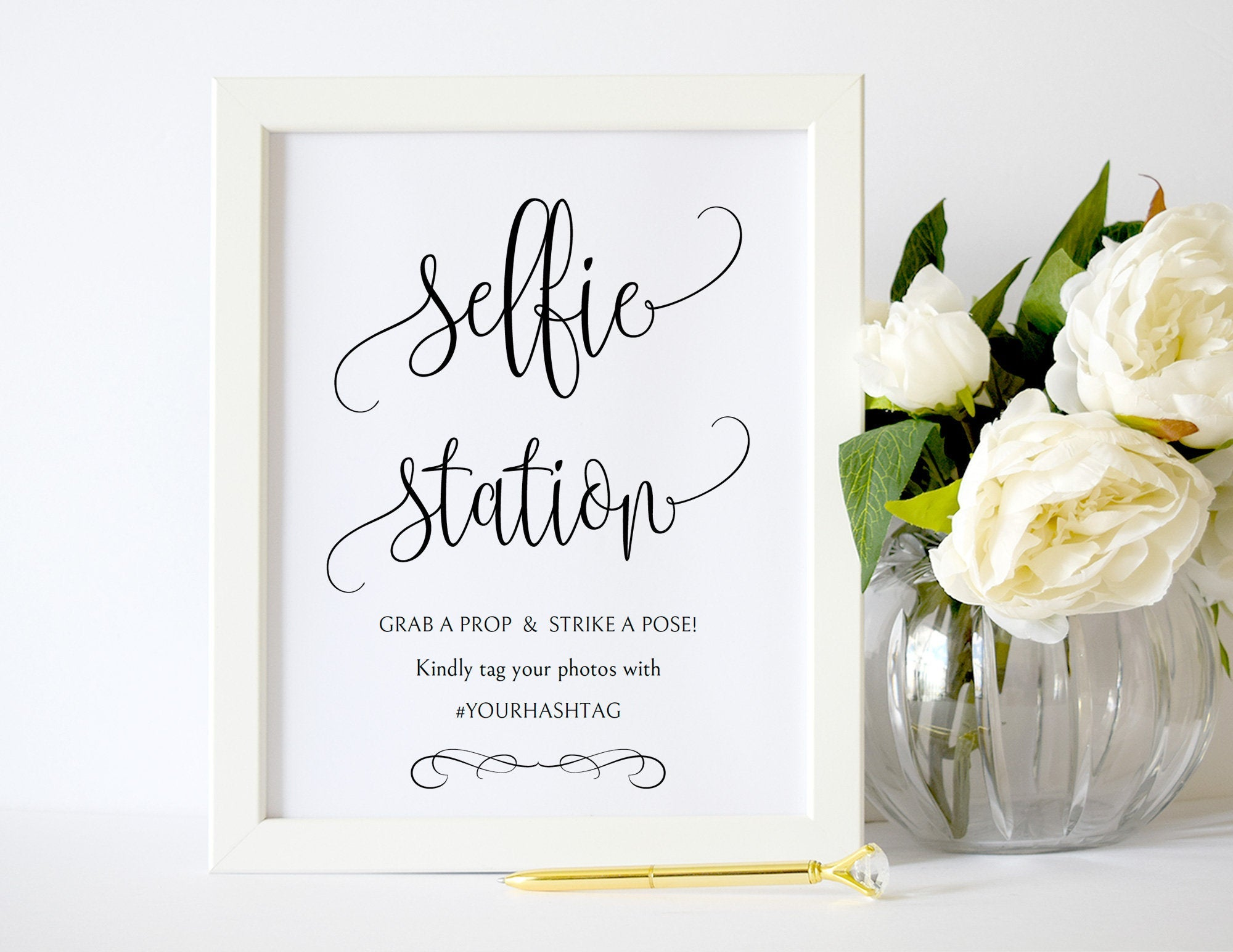 Selfie Station Printable Wedding Sign