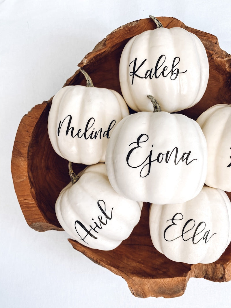 Small Personalized Pumpkin Placecard