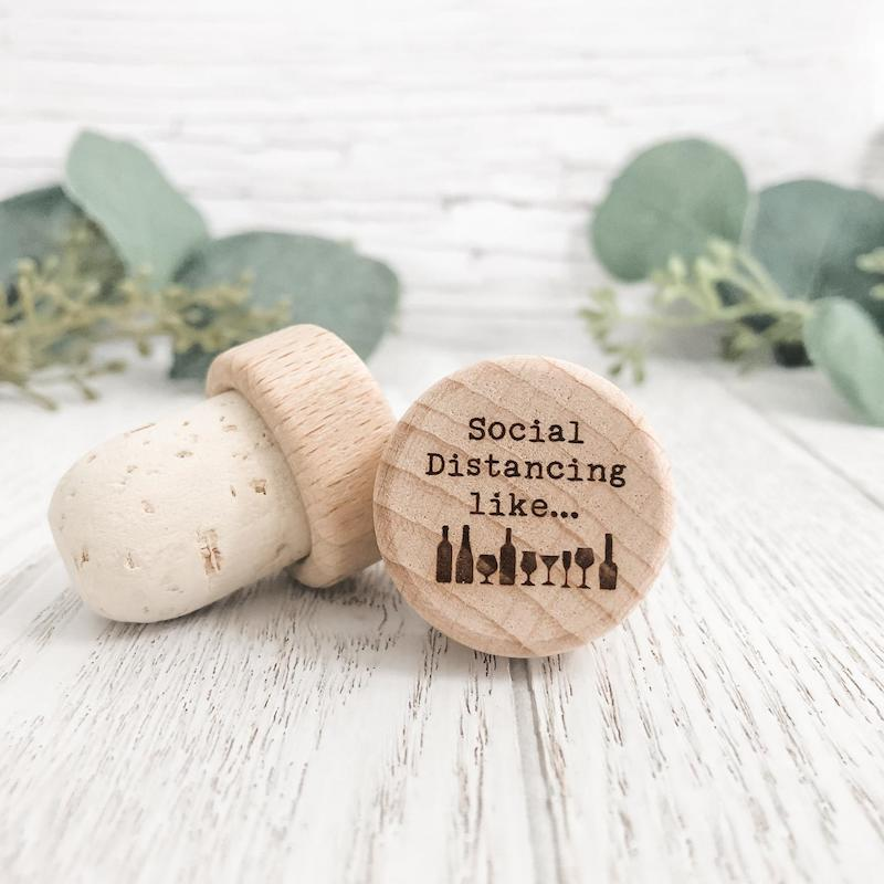 Social Distancing Like Bottle Stopper Wedding Favor