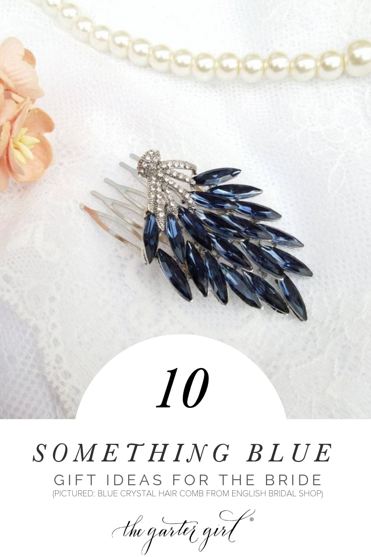 something blue ideas for the bride