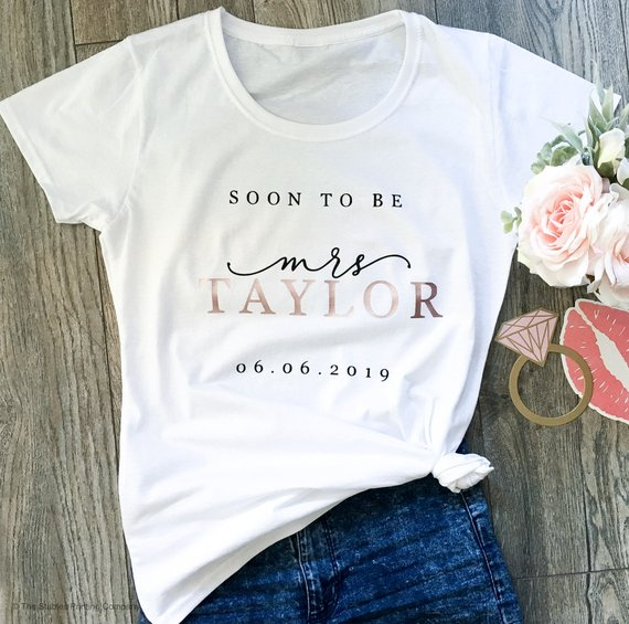 soon to be mrs. wedding engagement shirt