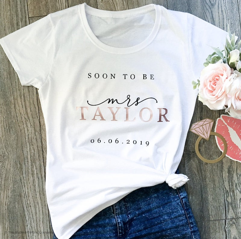 Soon To Be Mrs Tee Wedding Engagement Shirt for Bride