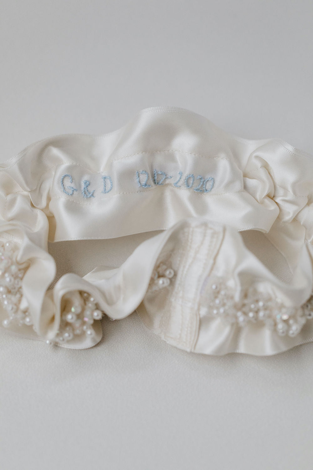 personalized wedding garter heirloom with crystals and sparkle by luxury garter designer, The Garter Girl
