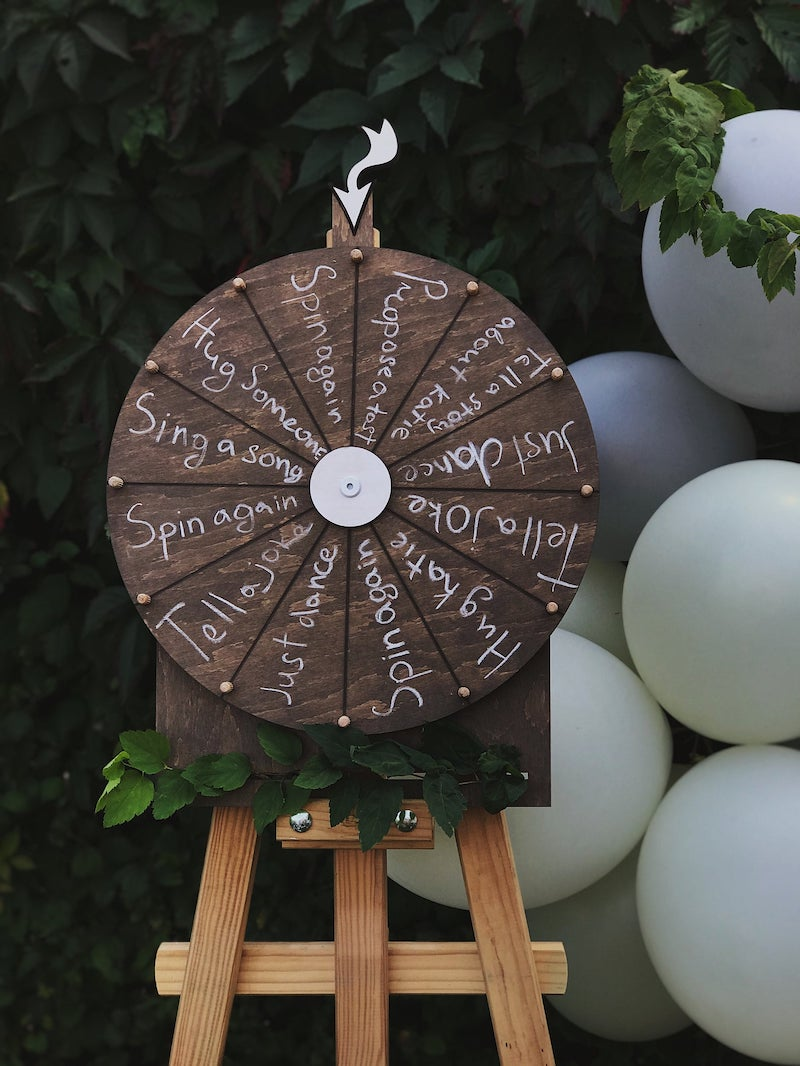 Spin the Wheel Wedding Game