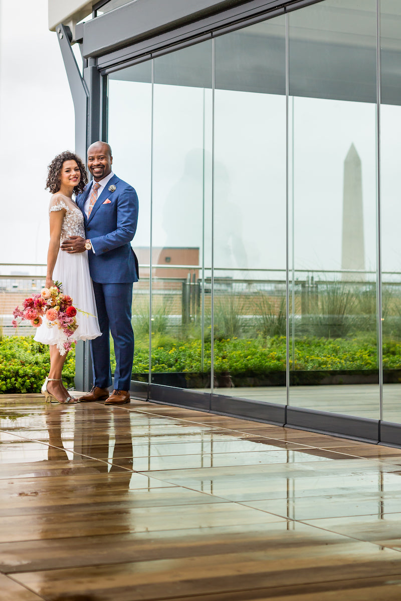 Spy Museum Vow Renewal Rooftop Photos