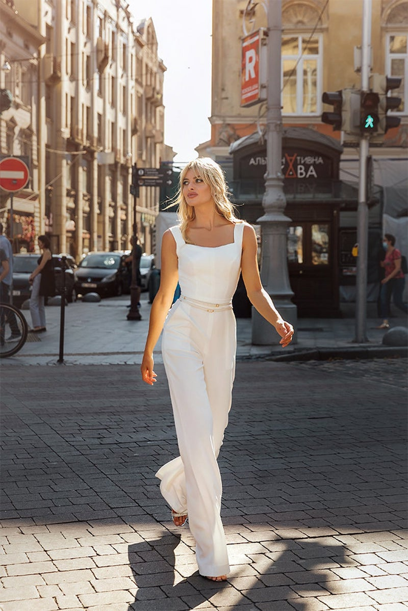 Square Neck Bridal Jumpsuit