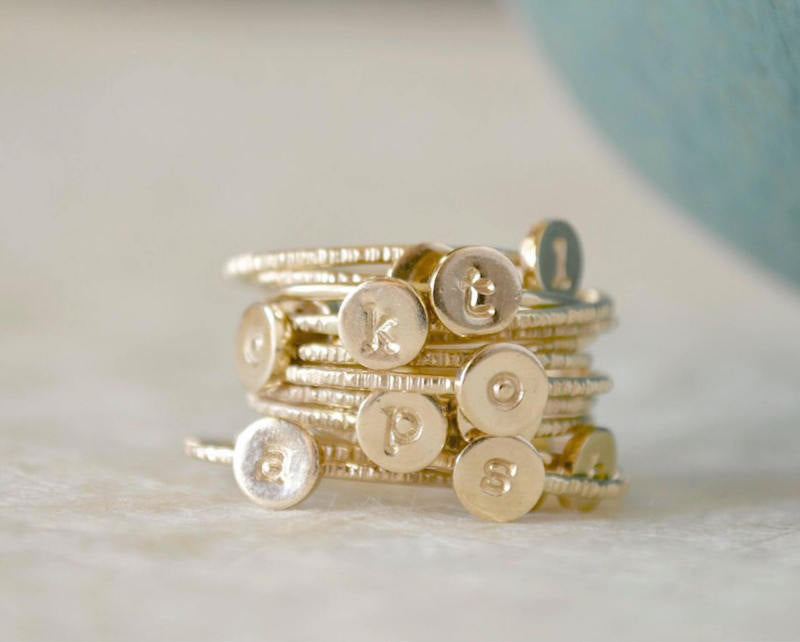 stacking letter rings