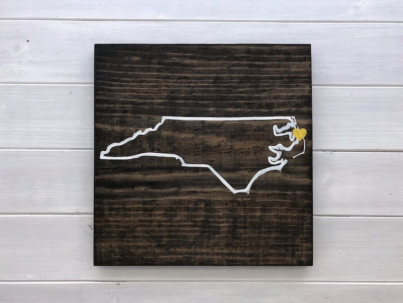 State Wall Art Wood Sign