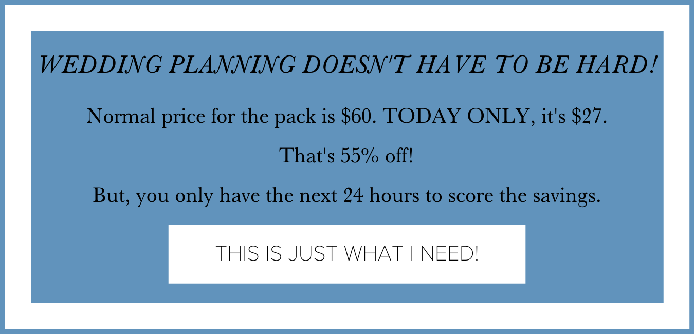 get the no drama wedding planning heirloom pack discount from The Garter Girl