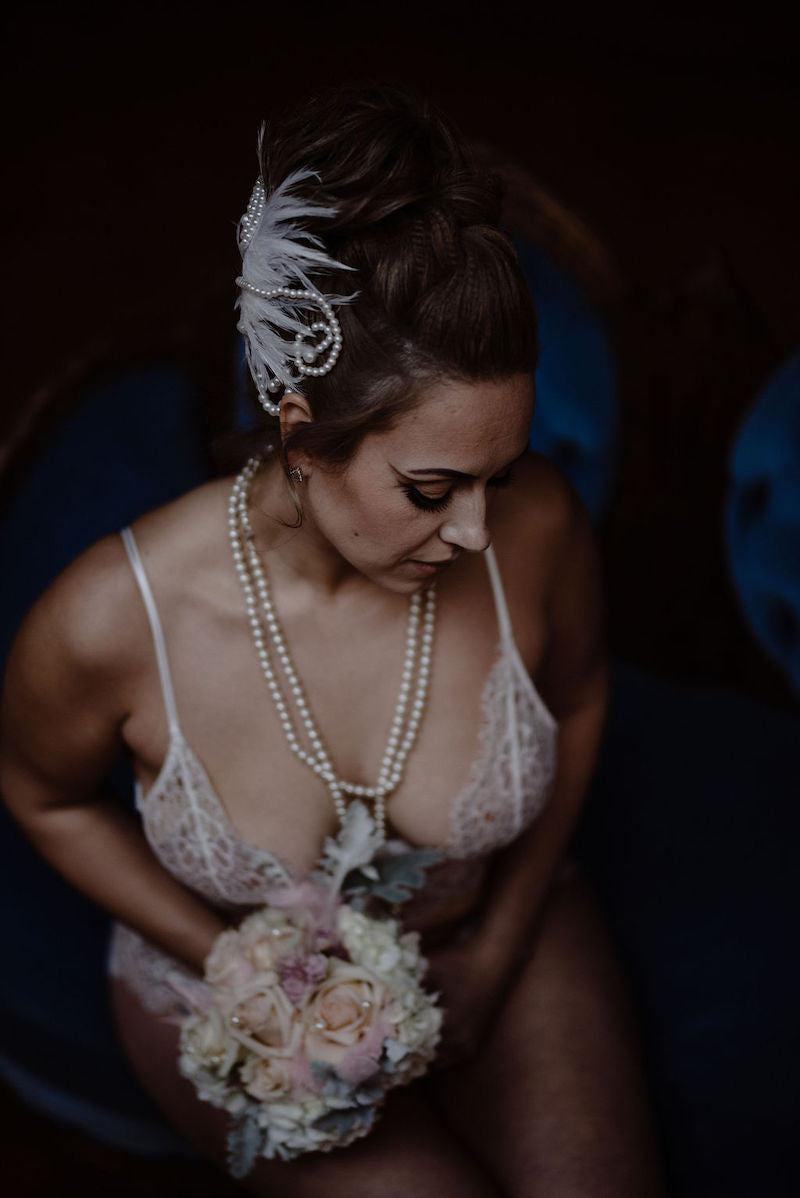 White Swan Lake Inspired Bridal Boudoir