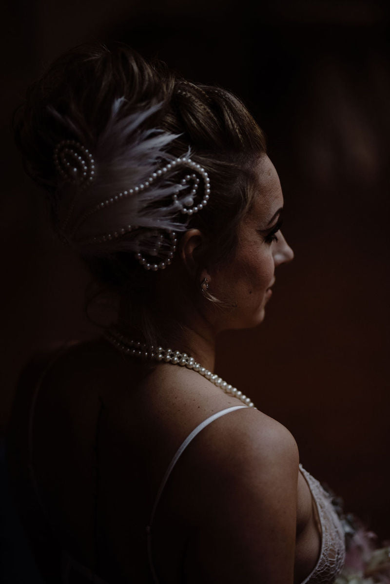Swan Lake Inspired Pearl Hair Accessory Bridal