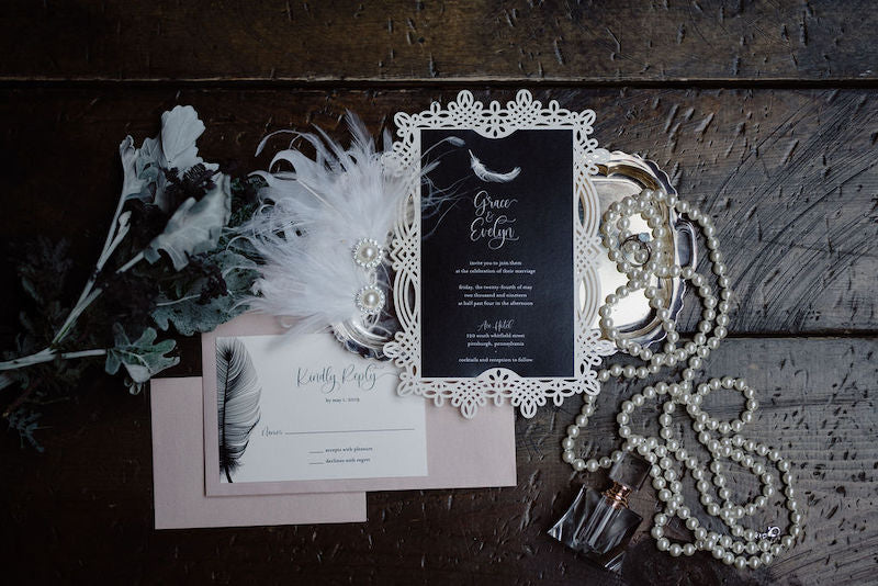 Swan Lake Inspired Wedding Invitation Suite