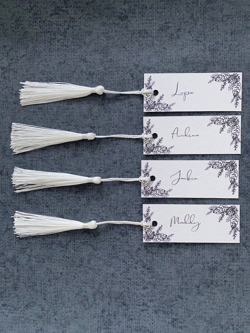 Tassel Place Cards for Wedding Table