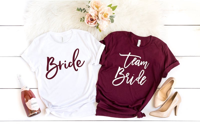 Team Bride Tee Shirts for Bridesmaids